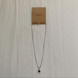 Brandy Melville Silver Dice Necklace